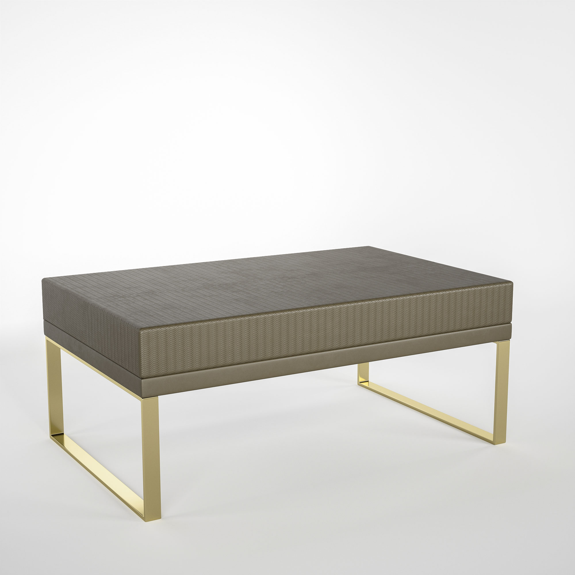 Embossed Leather Bench
