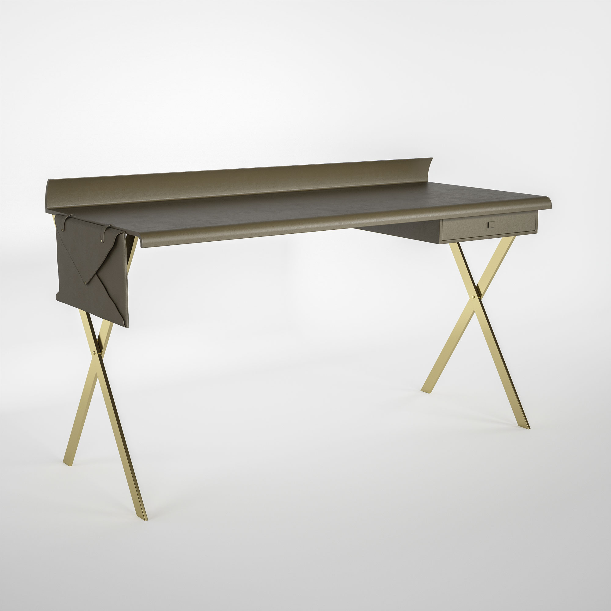 Desk in leather for women