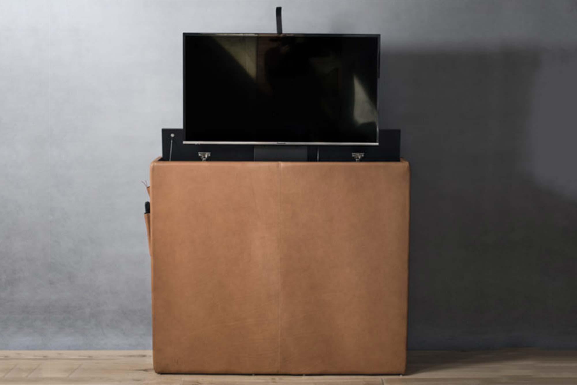 Meuble TV avec moteur automatisé fait sur mesure